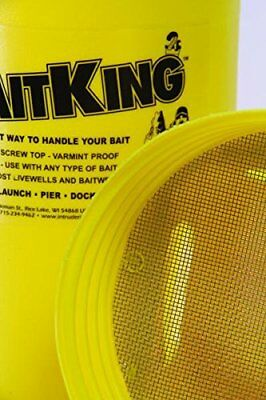 Intruder BaitKing, Live Bait Bucket, Use Trolling, Floating or Ice Fishing LARGE
