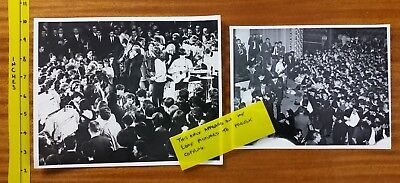 ROLLING STONES   TWO  OLD b&w PRESS PHOTOS circa  1960's  Belle Vue Manchester
