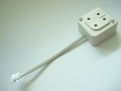 Antique telephone 4 prong plug to modular adapter.  Vintage telephone cord