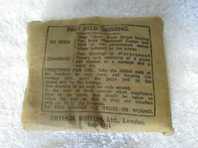 WW2 Field Dressing Dated July 1944