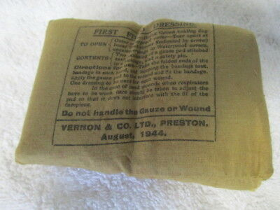 WW2 First Field Dressing Dated 1944