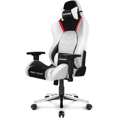 AKRacing Masters Series Premium Gaming Chair with High Backrest Arctica