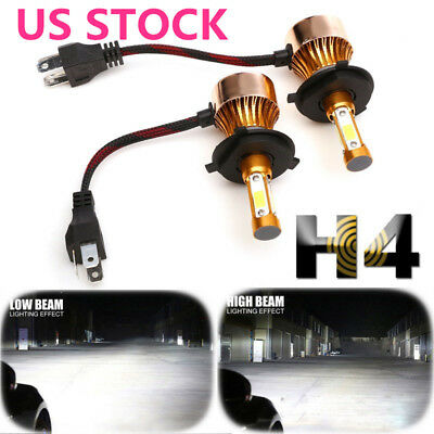 4-Side LED Headlight Conversion Kit 2300W 295000LM High Lo Beam Bulb H4 HB2 9003