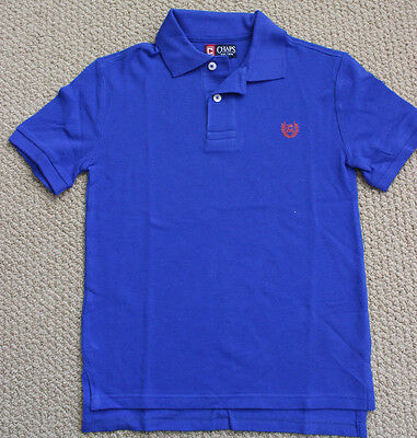 Chaps Ralph Lauren Polo Shirt 8 S Top Bright Blue Short Sleeve NWT Small Boy's