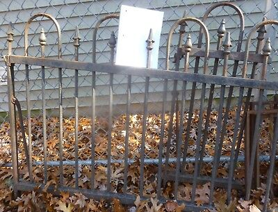 175' Antique CAST IRON FENCE Architectural Salvage Wrought STAR FINIAL Victorian