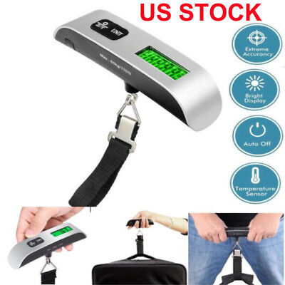 Travel 50kg/10g Portable LCD Digital Hanging Luggage Scale Electronic Weight