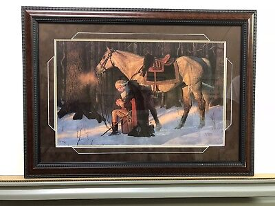 Prayer at Valley Forge by Arnold Friberg Custom framed in our gallery.