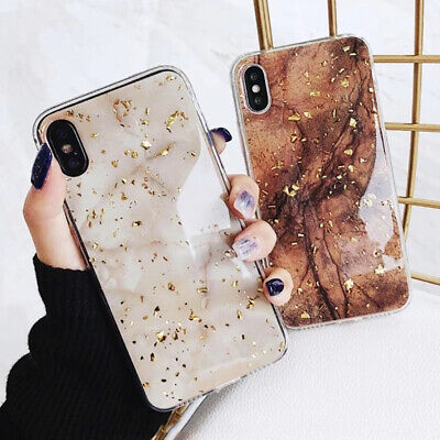 For iPhone 8 7 Plus XS Max XR Marble Shockproof Silicone Protective Case Cover