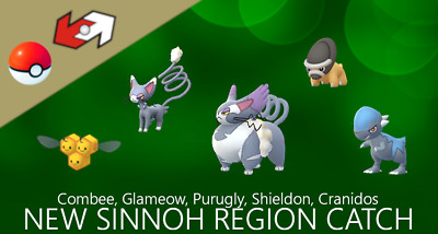 Pokemon Go Combee, Shieldon, Purugly, Cranidos Catch (Read Description)
