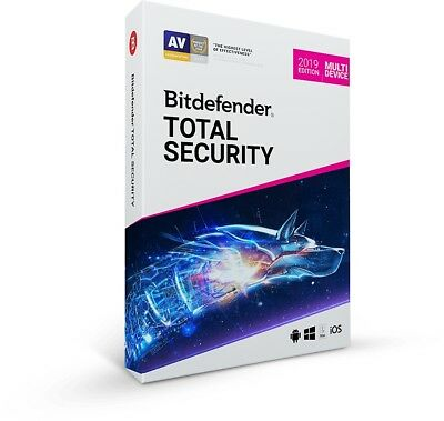 Bitdefender Total Security 2019 - Multi Device | 5 Devices - 1, 2, 3, 4, 5 Years