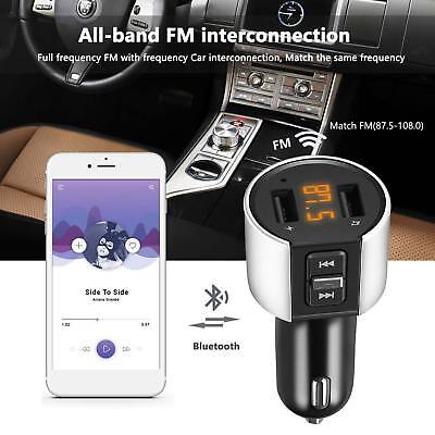 Wireless In-Car Bluetooth FM Radio Transmitter Adapter Charger 2X USB Mp3 Player