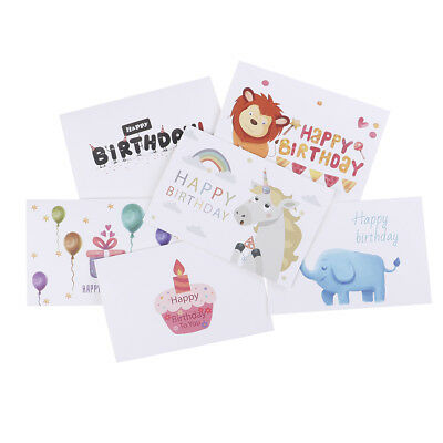6pcs/set thank you cards birthday card for kids note cards with envelopes NT