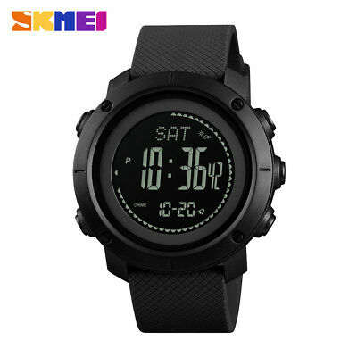 SKMEI Men's Watches Pedometer Altimeter Barometer Compass LED Wristwatches 1427