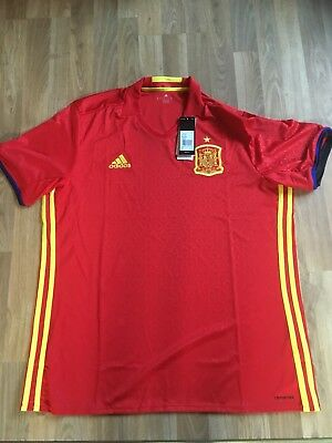 SPAIN Home Football Shirt Adult XL Adidas New Sealed With Tags