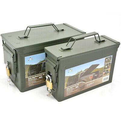 US Munitionskiste mit Schloss Metall Transportbox Transportkiste Army Ammo Box