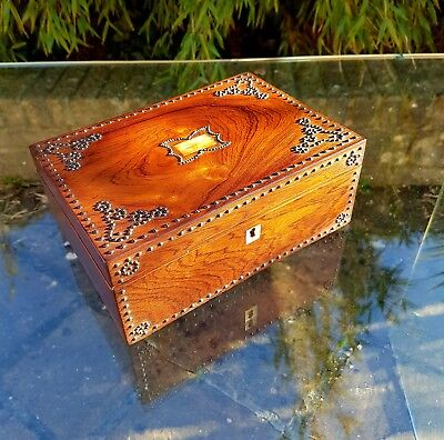 Rosewood Jewellery Box / Trinket Box With Metal Studs
