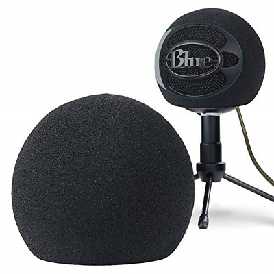 YOUSHARES Blue Snowball Pop Filter - Customizing Microphone Windscreen Foam for