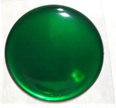"Hub cap spinner gearshift center green sticker round 1-5/8"" for Peterbilt KW FL"