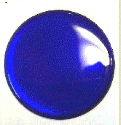 "Hub cap spinner gearshift center blue sticker round 1-5/8"" for Peterbilt KW FL"