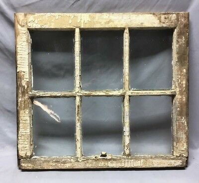Antique 6 Lite Window Sash Shabby Vintage Old Chic 21X24 134-19C