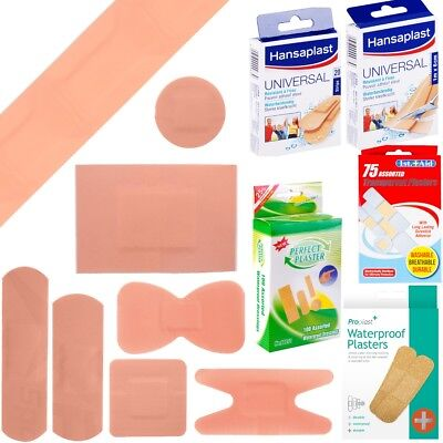 WATERPROOF PLASTERS Finger Knuckle Strip Cut To Size Assorted Size Small Large