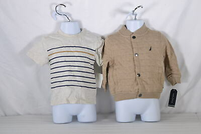 Baby Boy's Nautica, Three Piece Set with Jacket, Tee and Pant Set in Brown