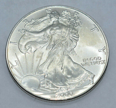 2000 1 oz Silver American Eagle (Uncirculated) -124195 - Must See