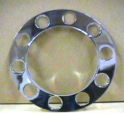 "beauty rings(2) stainless stud piloted 5 sm 5 large holes 1-1/2"" nut steel wheel"