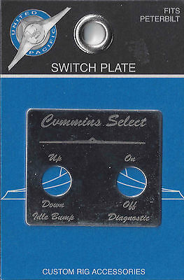 switch plate cummins select stainless steel for Peterbilt 2000-2005 dash