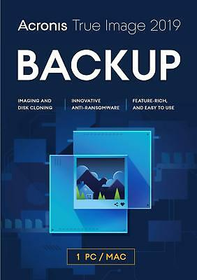 Acronis True Image 2019 - Computer Backup PC Mac