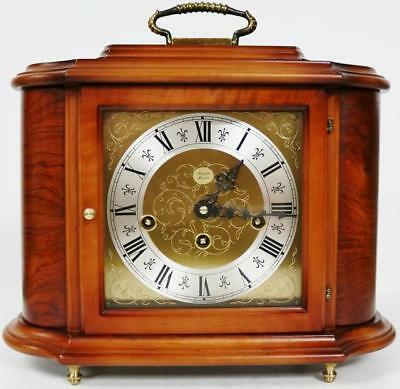Rare Vintage Rapport Walnut Musical Westminster Chime Mantel Clock Jewellery Box