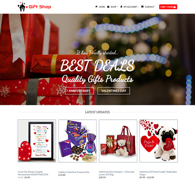 Gift Shop Website For Sale - Earn £295.00 A SALE. Free Domain| Web Hosting