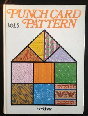 PUNCH CARD PATTERN Vol.5 Musterbuch Brother Lochkarten Strickmaschine