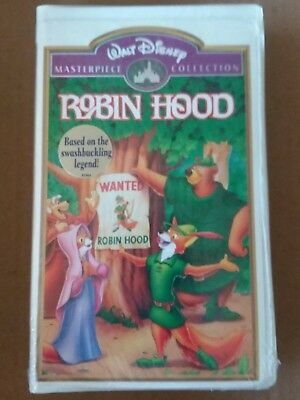 Walt Disney's ROBIN HOOD Masterpiece Collection Clamshell Case Sealed