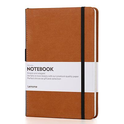 Dotted Bullet Grid Journal - Lemome A5 Hardcover Dot Grid Notebook With Pen Loop