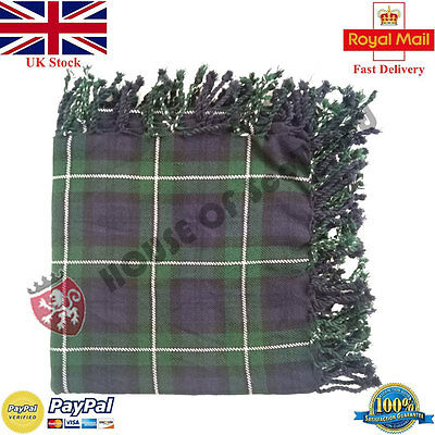 Clan Forbes Modern Tartan Scottish Purled Fringe Fly Plaid for Traditional Kilt