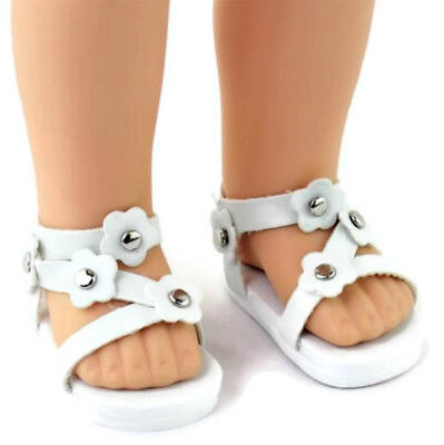 White Sandal Shoes for 14.5 inch American Girl Wellie Wishers Dolls