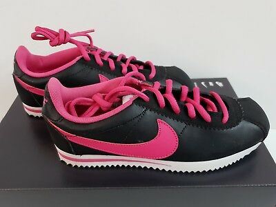 NIKE CORTEZ (GS) 749502-106 White Pink Blast Synthetic Leather Kids ... 7afdf34fe