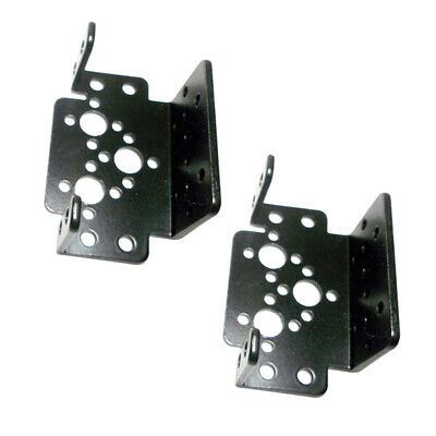 2pcs Servo Bracket for Robotic Manipulator DIY Robot Mount Black