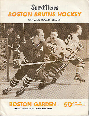 Rare Bobby Orr Rookie Year Program 1967 Boston Bruins Vs. Detroit Gordie Howe