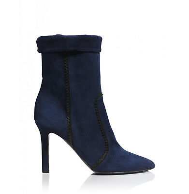 d1393e4caab Tamara Mellon Rebel Navy Suede Boots 90MM Heels  995 NEW