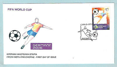 Cyprus Zypern Fifa World Cup Germany 2006 Nice Unofficial Fdc Football Soccer