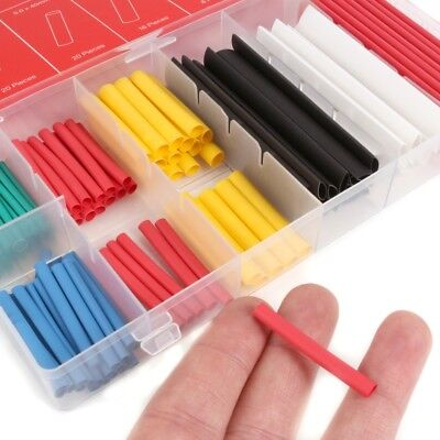 127Pc COLOURED SHRINK WRAP TUBES Small - Large Wire Cable Tubing Compress Sleeve