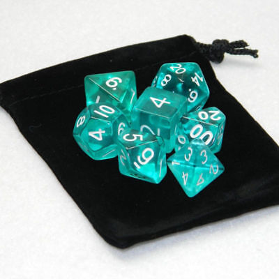 7Pcs/set Plastic Polyhedral Dice For DND RPG MTG Role Playing TRPG Game With Bag