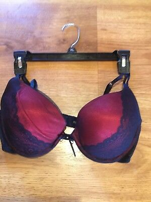 5de2a2720 Vassarette Womens Padded Push Up Underwire Bra With Black Lace 36C Very Nice