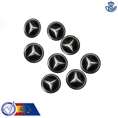 MERCEDES BENZ LOGOTIPO PEGATINA EMBLEMA LOGO 15mm3D LOGOTYPE STICKER funda llave