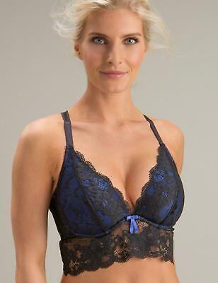 203796174241b POUR MOI AMOUR Convertible Underwired Bralette Bra 1501 Black Blue ...
