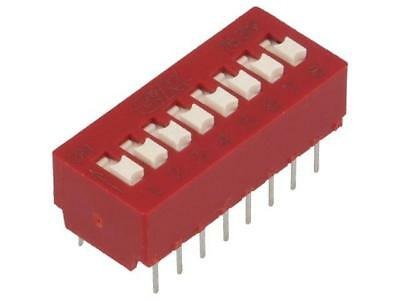 BD08 Switch DIP-SWITCH Poles number8 OFF-ON 0.025A/25VDC 1GΩ C AND K COMPONENTS