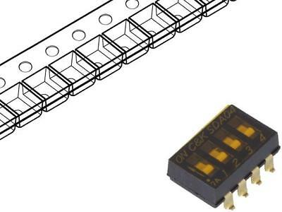 SDA04H0SBR Switch DIP-SWITCH Poles number4 OFF-ON 0.025A/24VDC 100MΩ