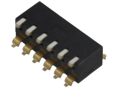 A6SR-6104 Switch DIP-SWITCH Poles number6 ON-OFF 0.025A/24VDC 100MΩ  OMRON